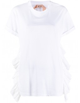 Lace Insert T-Shirt - White