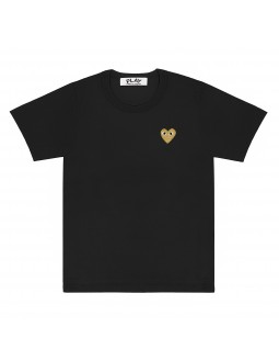 T-Shirt With Gold Emblem Men - White