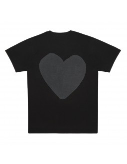 Front And Back Heart T-Shirt Women - Black