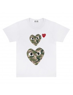 Double Camouflage Heart T-Shirt Men - White
