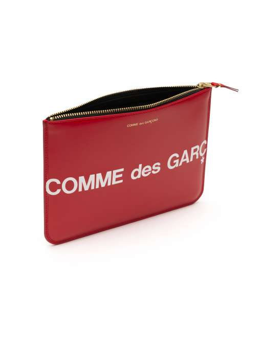 Huge Logo Big Coin Pouch  - Red