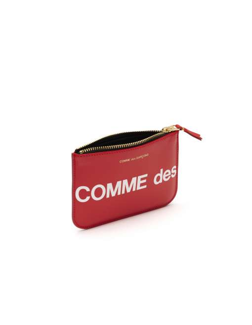 Huge Logo Small Coin Pouch  - Red