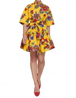 Club21 Exclusive Oversize Floral Shirt Dress - Yellow