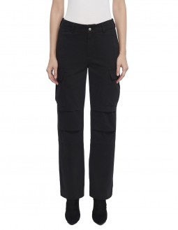 Cotton Twill Cargo Pant - Black