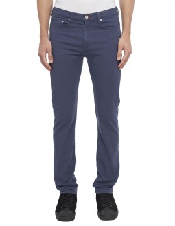 Garment Dyed Slim Fit Jeans - Denim