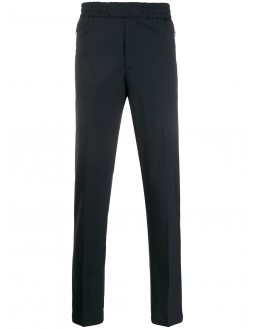 Tailored Drawcord Pants - Navy