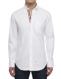 Long-Sleeved Button-Down Classic Shirt - White
