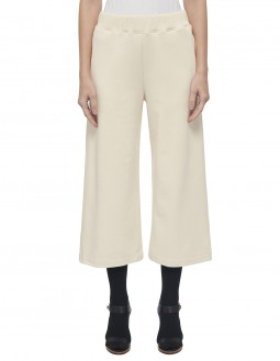 Angular Loop Back Terry Cropped Pants - Off White