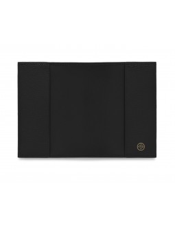 Passport Cover Cross Grain - Black