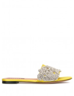 Club21 Exclusive Strass Crystal-Embellished Sandals - Yellow
