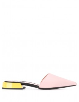Covered Toe Flat Mule - Pink