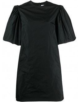Taffeta Mini Dress - Black