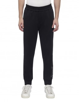 Mercerised Stretch Terry Jogger - Black