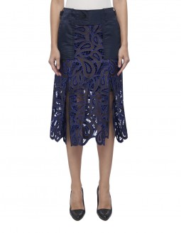 Paisley Lace Skirt - Blue
