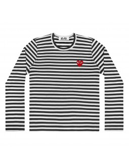 Long-Sleeved T-Shirt With Red Emblem Men - Red