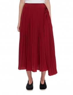 Pleated Skirt - Red