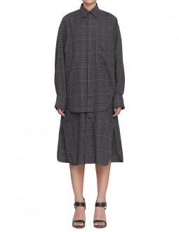 Club21 Exclusive Glen Plaid Shirt Dress - Grey
