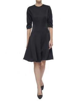 Envers Satin Dress - Body Lined - Black