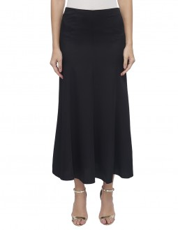 Envers Satin Evening Skirt - Fully Lined - Black