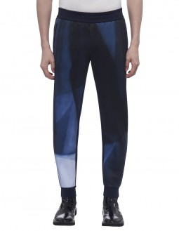 Compact Milano  Ls Graphic Pant - Clear Foil Logo - Navy