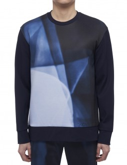 Compact Milano Ls Graphic Top - Clear Foil Logo - Navy