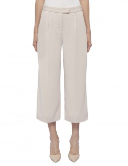 Stretch Poly Crepe Culottes - Beige