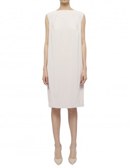 Soft Matte Jersey Dress - Beige