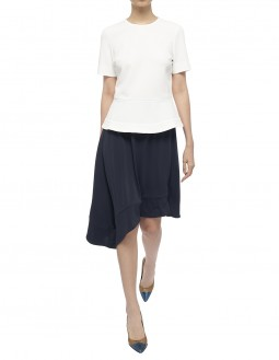 Soft Matte Jersey Skirt - Navy